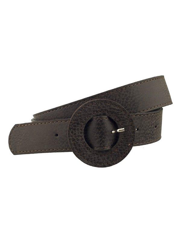 Cinturón Hebilla Redonda Escamado