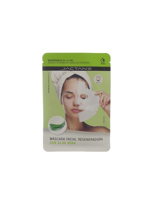 Máscara facial regeneradora con aloe vera.