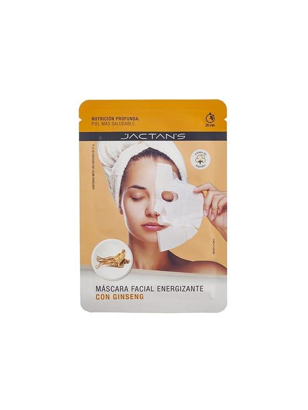 Máscara facial energizante con ginseng -