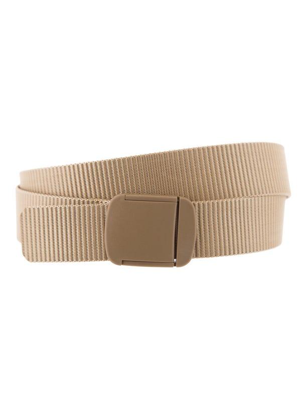 Cinturón cinta con hebilla plástica.