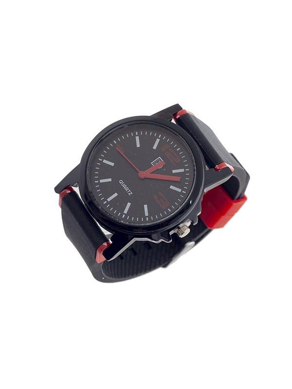 Reloj de mujer malla de silicona color negro
