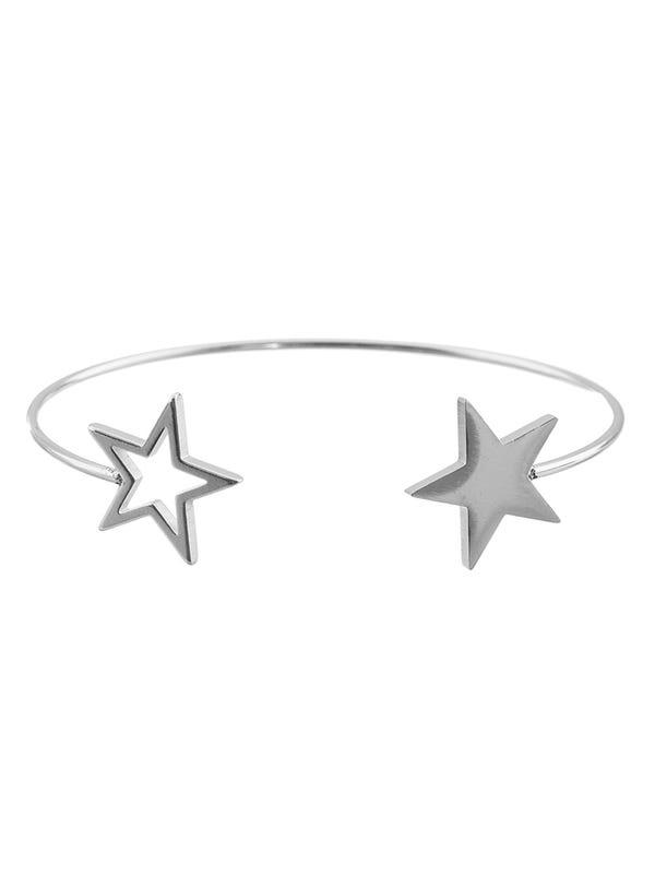 Pulsera acero quirúrgico doble estrella