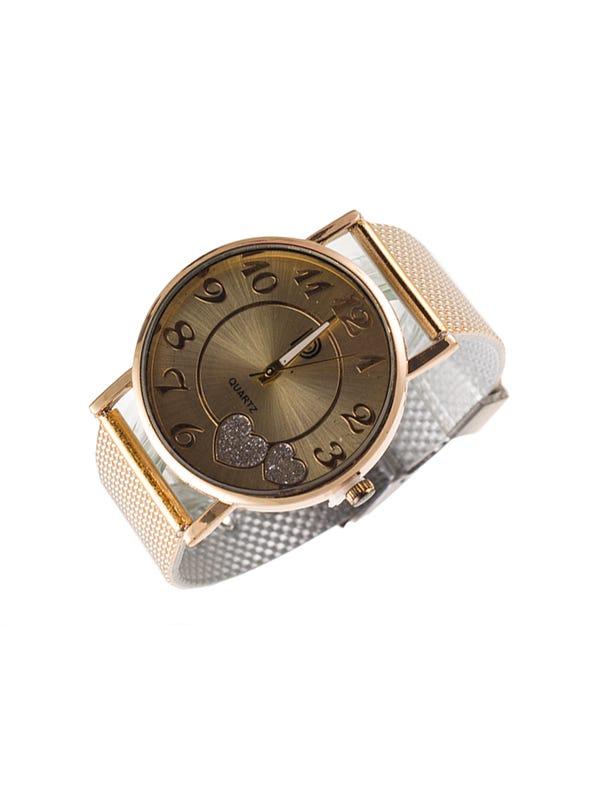 Reloj diseño metálico Dorado