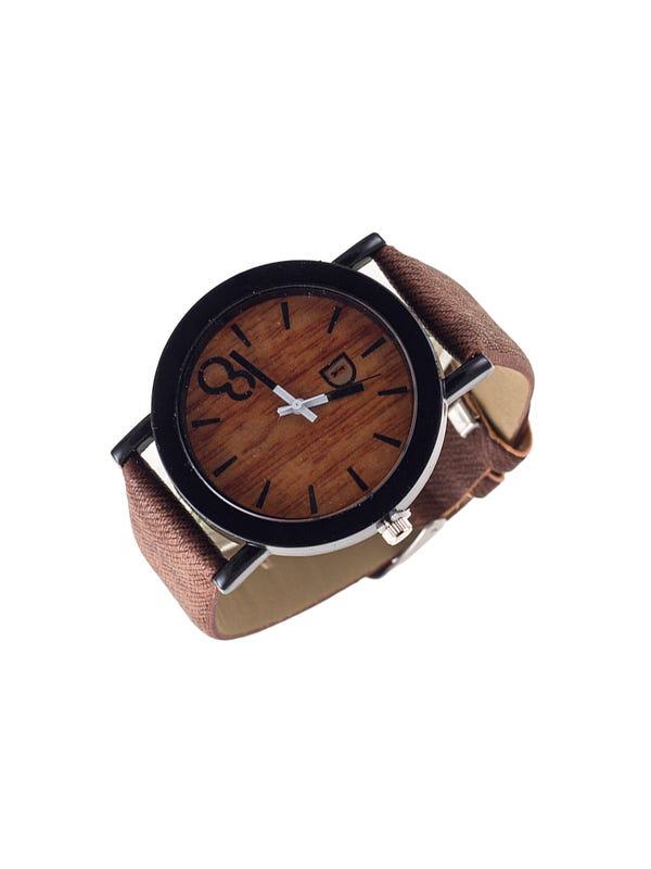 Reloj Cuero Ecológico Marrón