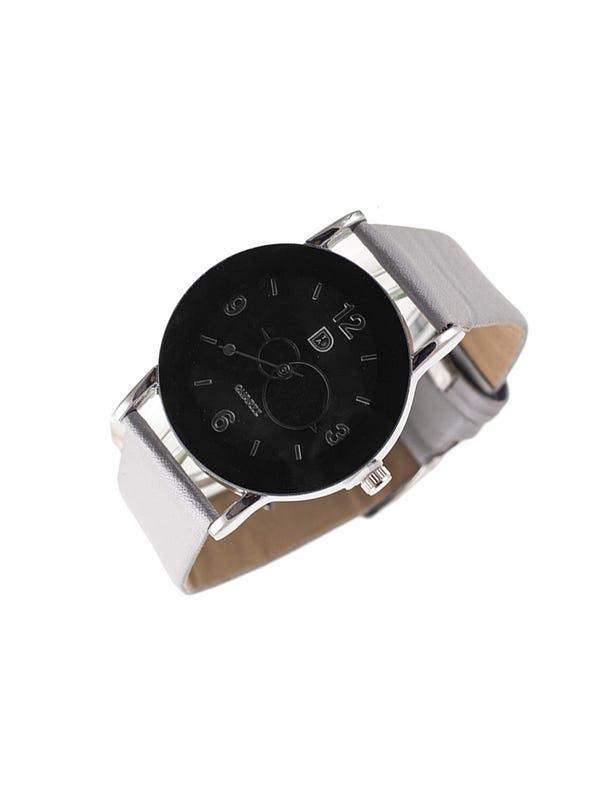 Reloj Cuero Ecológico Plata