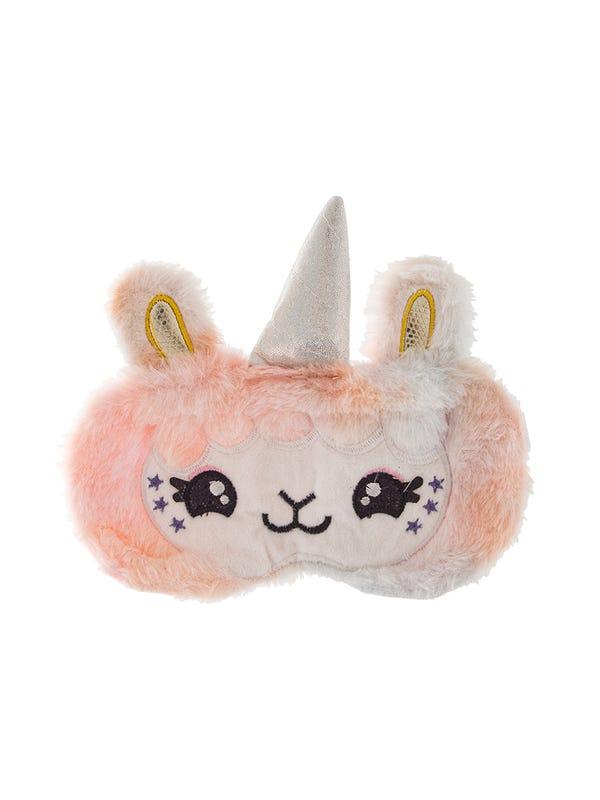 Antifaz de peluche unicornio