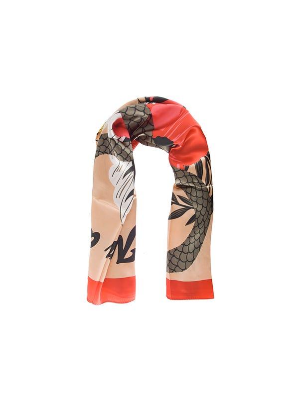 Pañuelo de seda grande floreado
