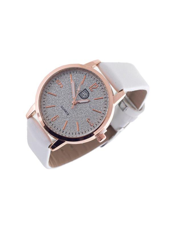 Reloj cuero ecológico color Blanco
