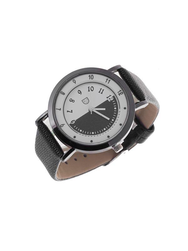Reloj Cuero Ecológico Negro