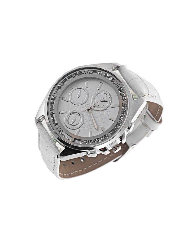 Reloj Cuero Ecológico Blanco