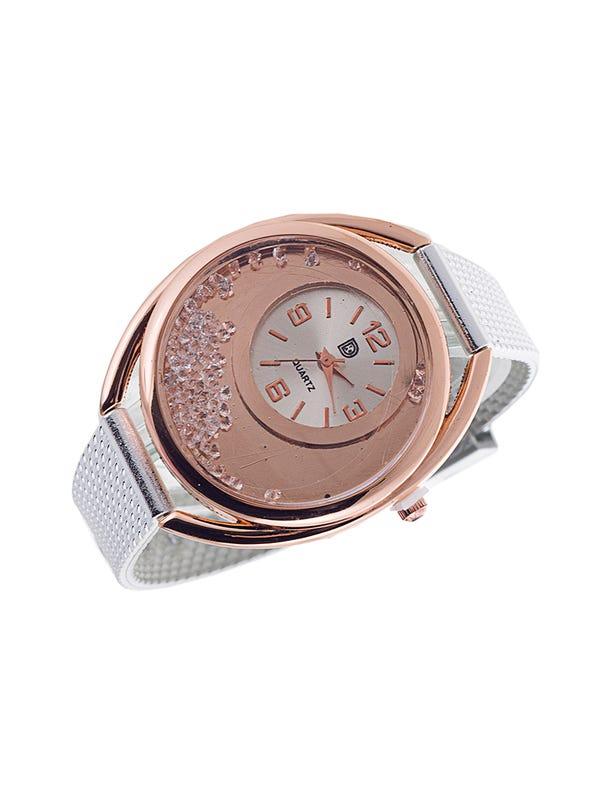 Reloj diseño metálico Plata