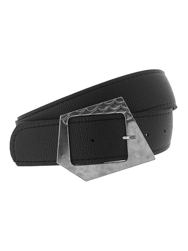 Cinturón maxi hebilla geométrica