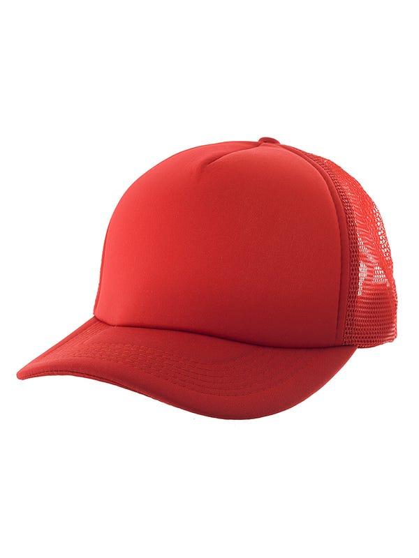 Gorra cap lisa con red en laterales.