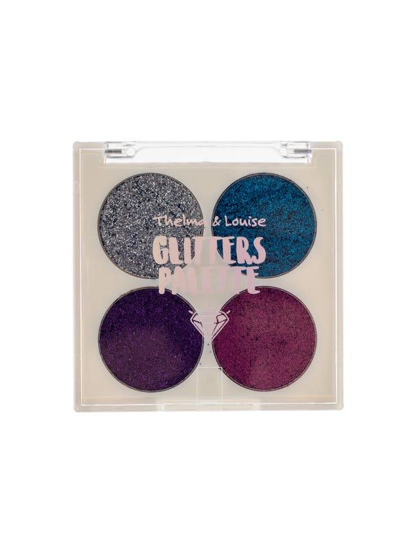 Palette glitters 4 tonos.