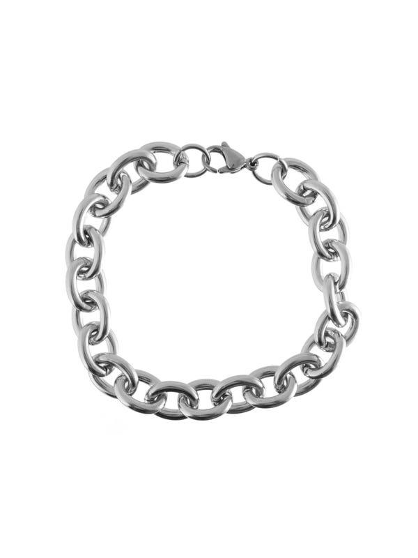 Pulsera cadena grande de acero quirúrgico