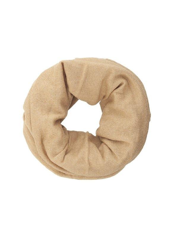 Cuello de lana liso tubular unisex colores tierra.