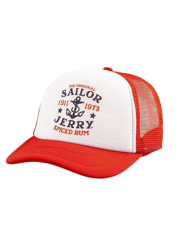 Gorra cap estampada con red en sus laterales.
