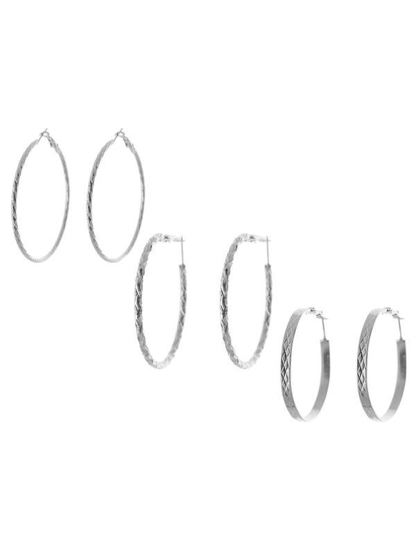 Aros argolla Nickel en set de 3 medidas.