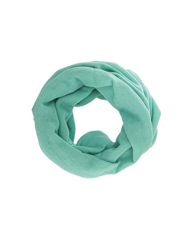 Cuello de lana liso tubular unisex color pastel.